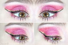 Sailor Chibimoon inspired makeup by http://www.fioswelt.de/2016/01/sailor-chibi-moon-make-up-sailor-moon.html