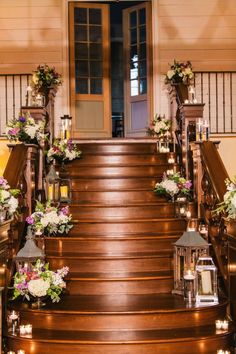 Delicieux Elegant Georgia Wedding In Shades Of Green. Wedding Staircase DecorationWedding  ...