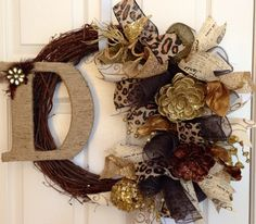 Fall Grapevine Burlap Wreath Thanksgiving by PurplePetalDesign