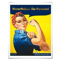 Nevertheless She Persisted Gold Foil Art Print. Women's Rights. Elizabeth Warren Quote