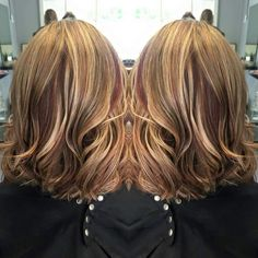 Full head of foils red blonde brunette