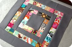 """want to make a whole quilt like this... 1"""" square (finished blocks) and Kona Coal cotton."""