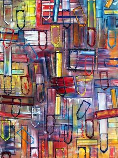 """""""Don't F#?k With My Peace"""" New Large Abstract Oil Painting On Canvas, 30"""" x 40"""""""