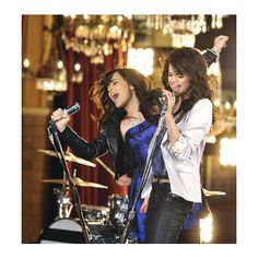 Demi Lovato & Selena Gomez: Sassy Songstresses - OK! Magazine - The... ❤ liked on Polyvore featuring demi lovato, selena gomez, celebrities, demi and friends