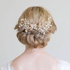 Gold Hair Comb Gold or Silver Hair Vine Rose gold hair vine