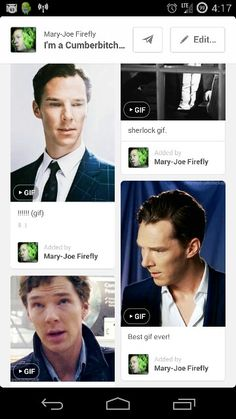 My feed did a thing! Benedict lookin at Benedict lookin at Benedict lookin at Benedict!