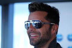 Ricky Martin smiles at a Grand Finale event held at Eureka Tower on July 16, 2014 in Melbourne, Australia, on July 16, 2014