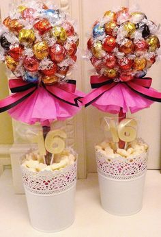 Mixed Lindor Trees www.candytreescambridge.co.uk