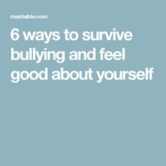 How to boost your resiliency and improve your coping skills if you've been bullied.