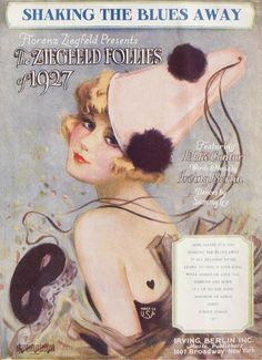 Shaking the Blues Away!   1927 Ziegfeld Follies sheet music   artwork by Henry Clive