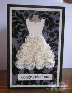 Beautiful Bride's Gown Card Udea