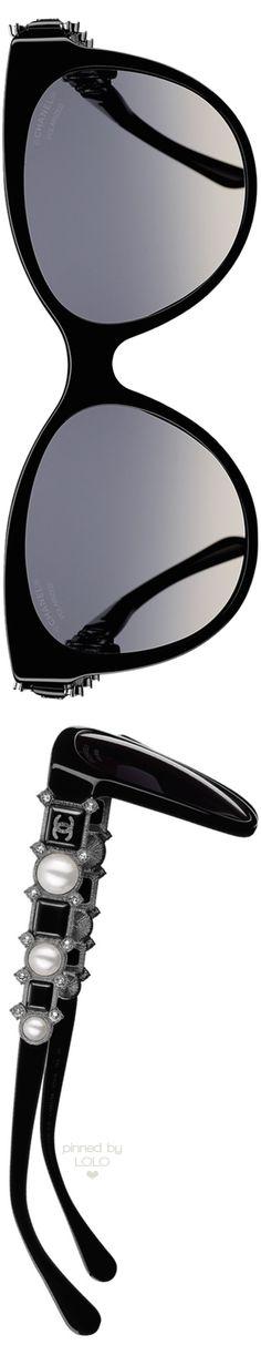 Chanel Butterfly Bijou Black Sunglasses | LOLO❤