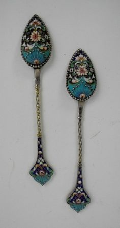 Russian silver spoons