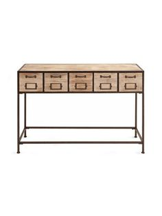 Wooden Console Table by UMA at Gilt