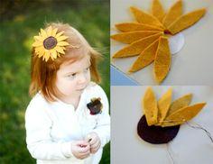 Love this felt sunflower tutorial at Sweetie Pie Bakery
