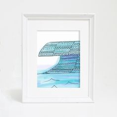 Celebrate the ocean with this gorgeous blue tribal wave art print. It's perfect for any boho inspired nursery, gallery wall or office decor.