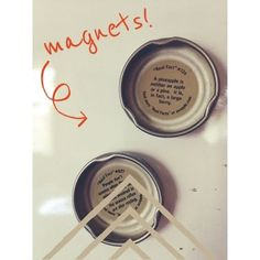 Turn Snapple bottle caps into magnets!