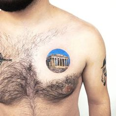 Image may contain: one or more people and closeup Black Tattoos, Small Tattoos, Parthenon, Watercolor Tattoo, Places, People, Image, Instagram, Petite Tattoos