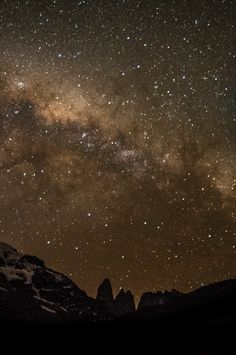 Milky way above the towers, Torres del Paine National Park, #Patagonia