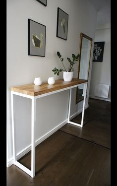 Home Room Design, Home Office Decor, Iron Furniture, Room Decor, Interior Room Decoration, Interior Deco, Furniture Design, Diy Console Table, Home Decor Furniture