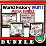 Ancient World History MEGA BUNDLE (World History Bundle), Middle Ages, Renaissance, Reformation, Revolutions, World War I, Game Cards, Timeline, Word Walls, DBQs, Google, Digital Learning