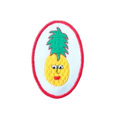 Pineapple Man Iron On Patch By Jess Warby