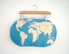 I like maps - this one is too cute (by Paola) #map #world