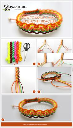How to make a wavy friendship bracelet