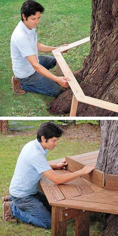 DIY Tree Bench. Great idea for if i have a nice big tree when i buy a house :)