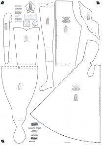 pattern for Tilda doll with a coat Doll Clothes Patterns, Doll Patterns, Clothing Patterns, Sewing Patterns, Skirt Patterns, Blouse Patterns, Doll Crafts, Diy Doll, Fabric Dolls