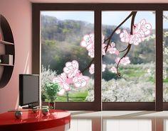 Fensterfolie - Fenstersticker No.TA63 Cherry Blossoms Big - Fensterbilder