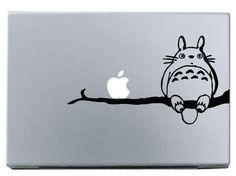 Totoro on branch laptop decal MacBook Apple by HipstersParadise101