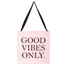 Good Vibes Only Ribbon Canvas