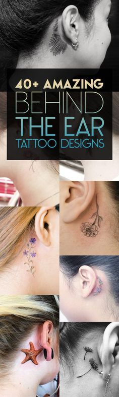 40+ Amazing Behind The Ear Tattoo Designs