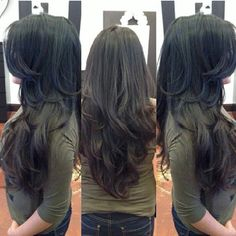 Trendfrisuren Joe, akkurater Mittelscheitel oder French Minimize Kick the bucket Long Layered Hair Wavy, Haircuts For Long Hair With Layers, Long Layered Haircuts, Haircut For Thick Hair, Long Hair Cuts, Wavy Hair, Straight Hairstyles, Layered Hairstyles, Short Hair