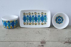 Beautiful and rare 3 Piece Set From Figgjo Flint Turi Design : Clupea - Norwegian on Etsy, $66.67 AUD