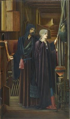 'The Wizard' by British artist Edward Burne-Jones, Birmingham Museum and Art Gallery. William Morris, Jenny Morris, Morgana Le Fay, John Everett Millais, Birmingham Museum, Pre Raphaelite Brotherhood, Edward Burne Jones, John William Waterhouse, Canvas Art