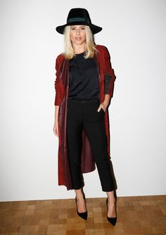 Pin for Later: Celebrities Were Sitting Pretty in the London Fashion Week Front Row Mollie King Mollie sat front row at the Pringle of Scotland show.