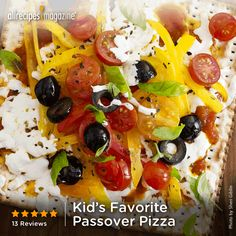 """Kid's Favorite Passover Pizza 