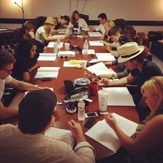 Table read for 'The Vampire Diaries' Season 4