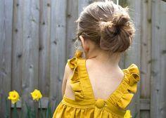 Yellow apron dress