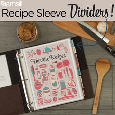 Check out our COMPLETELY customizable recipe dividers with tabs. Organize all of your favorite recipes! Plan your meals in minutes! This is the BEST addition to any recipe binder. This pack of 8 sheet protector tab dividers offers the perfect way to customize and organize your 3 ring recipe binders. Archival Safe. Made with PVC-Free & Acid-Free materials, these dividers for recipes won't stick to paper or transfer ink.. Write your own cookbook that lasts for generations. Page Dividers, Binder Dividers, Binder Organization, Recipe Organization, Recipe Binders, Letter Size Paper, Ring Binder, Hole Punch, Free Food