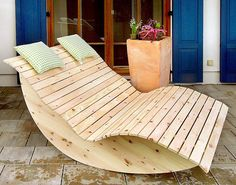 When you plan to invest in patio furniture you want to find some that speaks to you and that will last for awhile. Although teak patio furniture may be expensive its innate weather resistant qualit… Rustic Outdoor Furniture, Pallet Furniture, Furniture Plans, Furniture Design, Outdoor Decor, Art Furniture, Balcony Chairs, Balcony Furniture, Garden Furniture