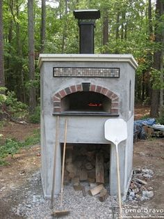 outdoor pizza oven. I want to build one.