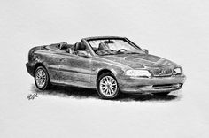 Kresba auta - Volvo C70