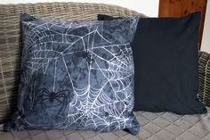 Halloween Spider Cushion by BlossomvioletCrafts on Etsy