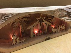 Weihnachtsszene in Wurzel Bastelanleitung zum selber basteln