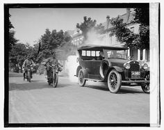c1923 Police on Motorcycles trailing smoking by InterestingPhotos, $6.95