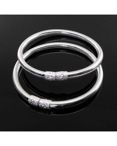 Silver Bracelet For Womens India Key: 2150116456 Silver Bracelets For Women, Silver Bangle Bracelets, Silver Necklaces, Sterling Necklaces, Sterling Silver Bracelets, Sterling Silver Pendants, Silver Ring, Silver Jewellery Indian, Ring Verlobung