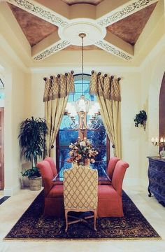 Half Circle Arches With A Groin Vault Ceiling In The Dining Room Glamorous Hershey Circular Dining Room Review